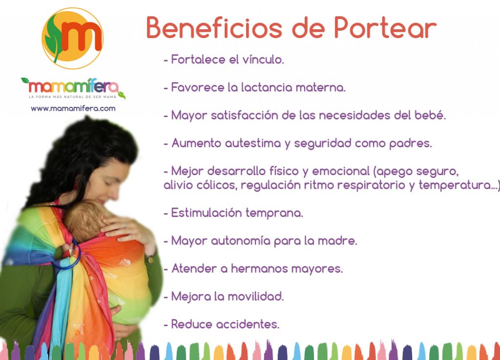 10 Beneficios de Portear a tu bebé