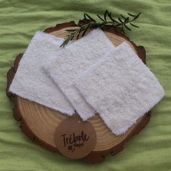 Toallitas desmaquillantes lavables - Pack 3 - algodón orgánico