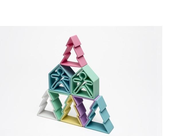 Dëna - 6 Kids + 6 Houses + 6 Trees - pastel