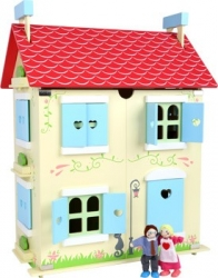 Casita de muñecas - techo desmontable