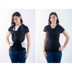 Camiseta de porteo QUOKKABABY - negro