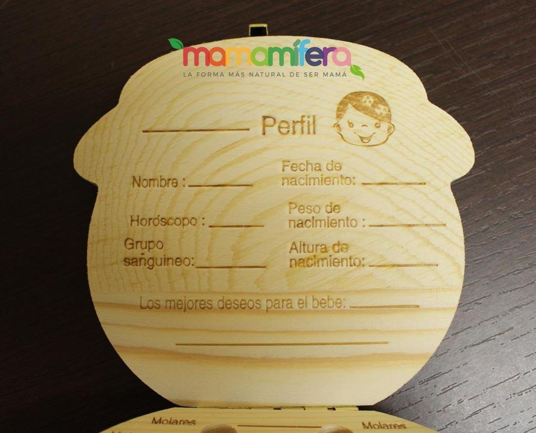 Cajita guardadientes de madera - bebé niña