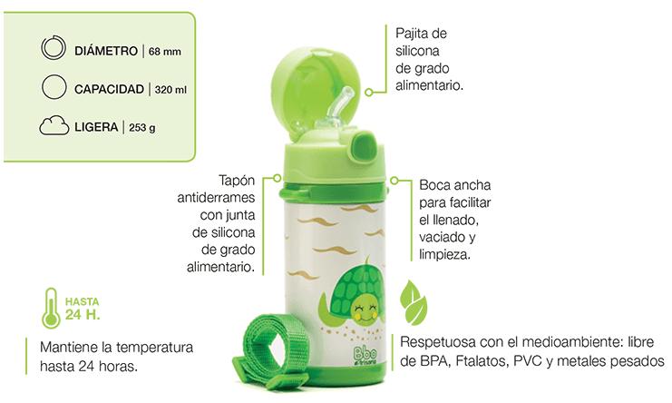 Botella - Termo infantil reutilizable - ballena
