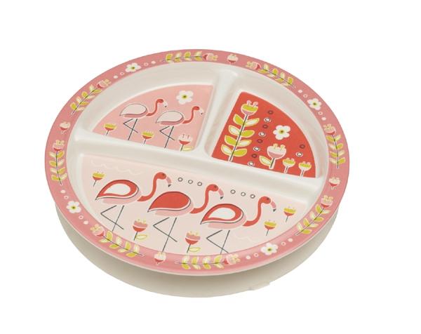 Plato infantil con succión - Flamingo