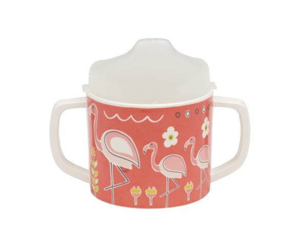 Taza Sippy Cup - Flamingo