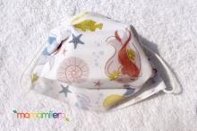 Mascarilla higienica infantil - tejido homologado - En el fondo del mar