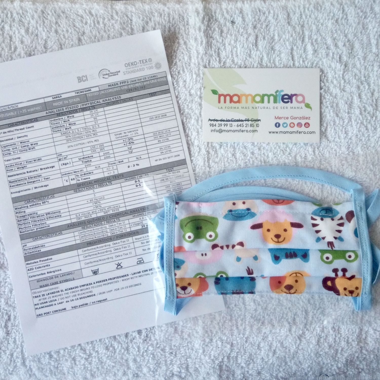 Mascarilla higienica infantil - tejido homologado - EL PRINCIPITO