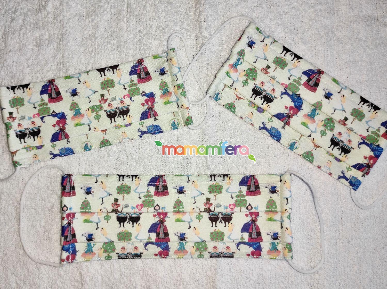Mascarilla higienica infantil - tejido homologado - Alice in Wonderland