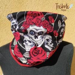 Cuello / Buff - Calaveras y Rosas