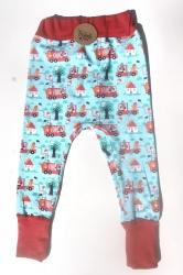 Pantalón bebé estilo harem - algodón orgánico - Bomberos