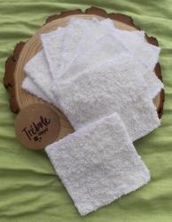 Toallitas desmaquillantes lavables - Pack 6 - algodón orgánico