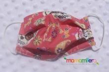 Mascarilla infantil - tejido homologado - Catrinas rosa