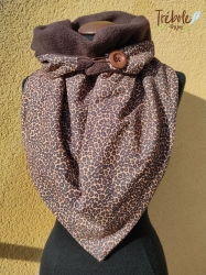 Bufanda triangular / Chal - Animal Print