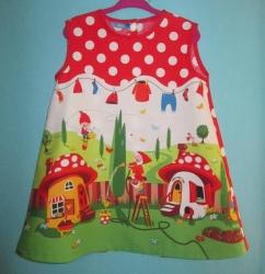 Vestido infantil - Gnomos