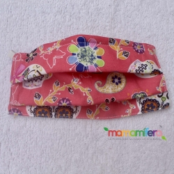 Mascarilla adulto - tejido homologado - Catrinas rosa