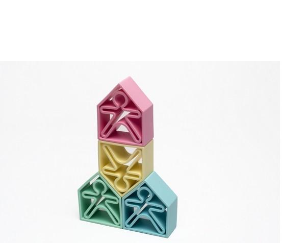 Dëna - 6 Kids + 6 Houses - Pastel
