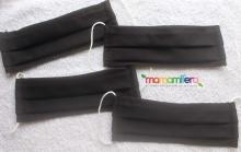 Mascarilla higiénica adulto - tejido homologado - Negra - Pack 4 unidades