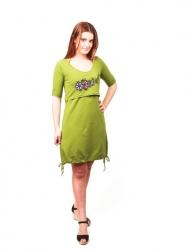 Vestido de lactancia y embarazo Nadine - verde