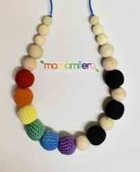 Collar de porteo/lactancia - Arcoiris Dots