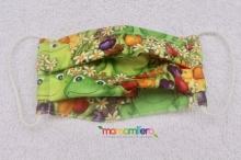 Mascarilla infantil - tejido homologado - Ranas y Flores