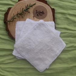 Toallitas lavables - Pack 3 - algodón orgánico