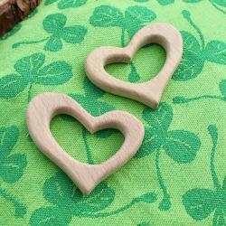 Corazón de madera natural de haya
