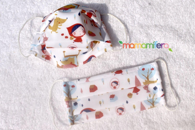 Mascarilla higienica infantil - tejido homologado - Caperucita Roja
