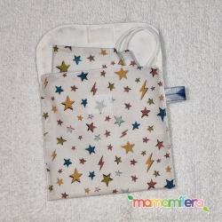 Bolsita porta-mascarillas - formato universal - Estrellas y relámpagos